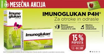 Izbrani izdelki Imunoglukan P4H 15 % ugodneje v mesecu februarju
