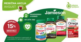 Jamieson Omega 3 15 % ugodneje v avgustu