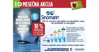 Izdelki Sinomarin 10 % ugodneje v mesecu marcu
