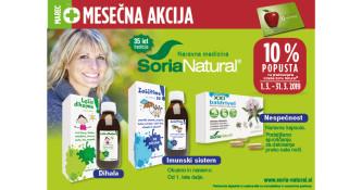 Izbrani izdelki Soria Natural 10 % ugodneje v marcu