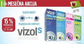 Kapljice Vizol S 15 % ugodneje v marcu