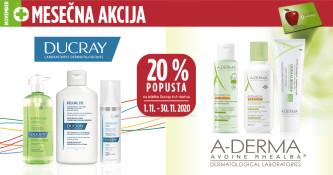A-Derma in Ducray 20 % ugodneje