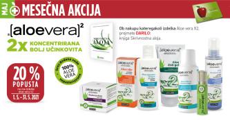 Izdelki Aloe Vera X2 20 % ugodneje v mesecu maju