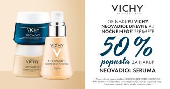 Ob nakupu izbranih izdelkov Vichy Neovadiol prejmete 50% popusta na Neovadiol kompleks, 30 ml