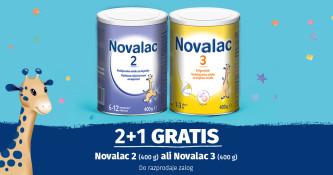 Novalac 2 in 3 (400 g) 2+1 gratis