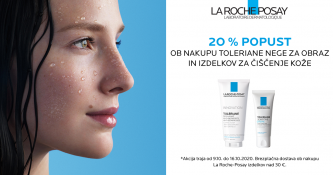Toleriane nega za obraz in izdelki za čiščenje kože 20 % ugodneje