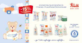 15 % popusta na vse Trudi kozmetične izdelke