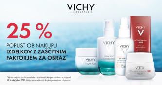 Vichy izdelki za obraz z zaščitnim faktorjem 25 % ugodneje