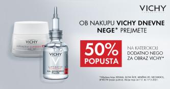 50 % popusta na dodatno nego Vichy
