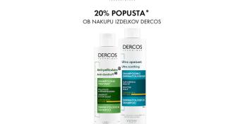 20 % popusta ob nakupu izdelkov Vichy Dercos