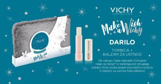 Ob nakupu izdelka Vichy prejmete kozmetično torbico in balzam za ustnice