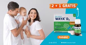 Waya D3 kapljice 2 + 1 gratis