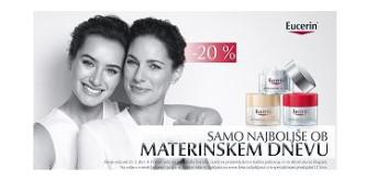 Akcijska ponudba izdelkov Eucerin ob materinskem dnevu