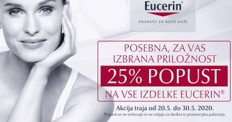 Eucerin izdelki 25 % ugodneje