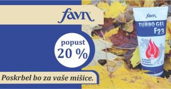 Favn Turbo gel F23 20 % ugodneje