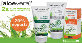 Izbrani izdelki Aloe Vera X2 20 % ugodneje
