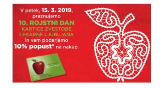 Kartica zvestobe Lekarne Ljubljana praznuje 10 let