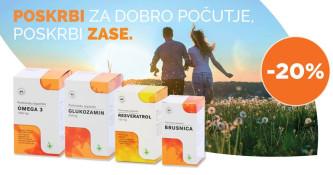 20 % popusta na izbrane izdelke Lekarne Ljubljana