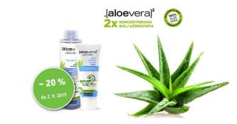 20 % popusta ob nakupu izbranih izdelkov Aloe vera x2