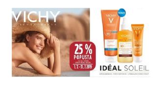 25 % popusta na vse izdelke VICHY IDEAL SOLEIL