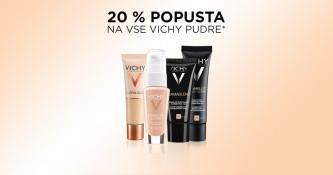Vichy pudri 20 % ugodneje