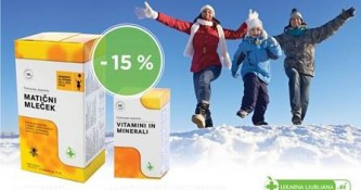 Matični mleček in Vitamini in minerali 15 % ugodneje