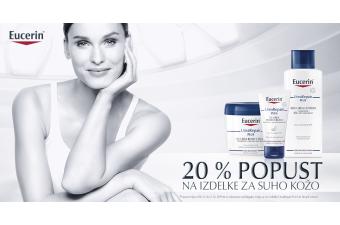 20 % popust na izdelke Eucerin za suho kožo