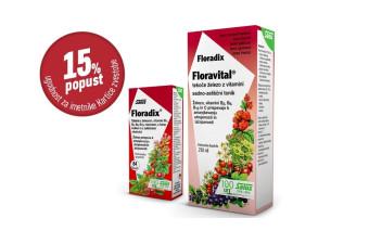 Floradix Floravital 15 % ugodneje