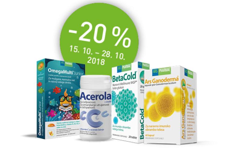 Akcijska ponudba izbranih prehranskih dopolnil Ars Pharmae